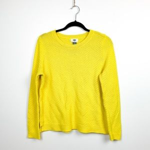 🌼2/$22🌼 Yellow Knit Old Navy Crewneck Sweater